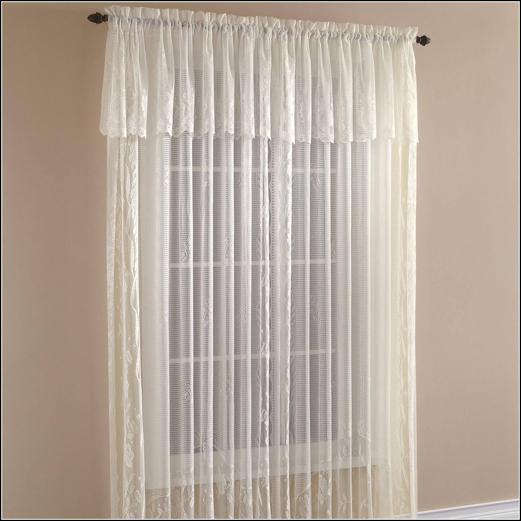 White Sheer Curtains Valance Home