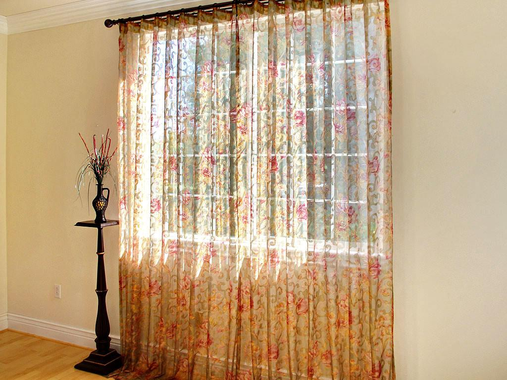 White Sheer Window Curtains Cabinet Hardware Room