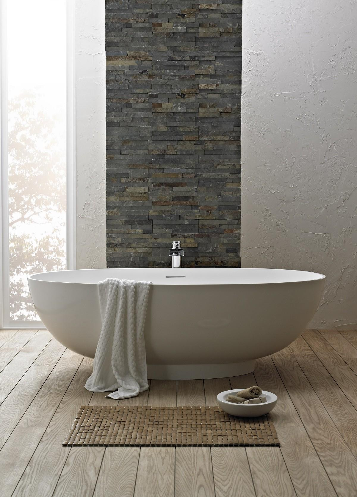 White Standing Tub Clawfoot Combined Chrome