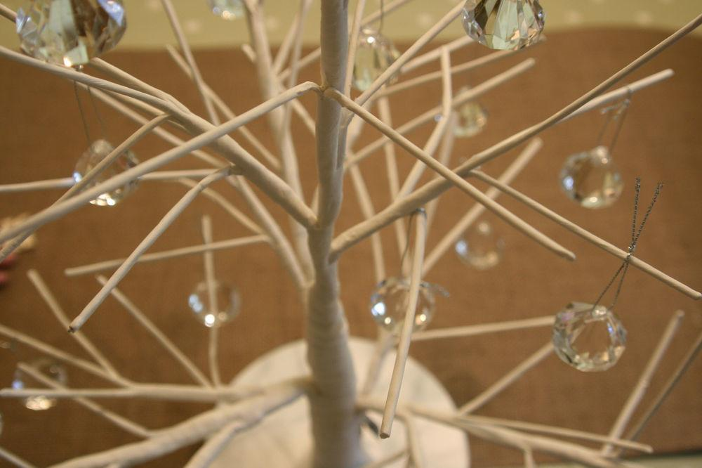 White Twig Branch Tree Table Top Decorations Easter Wish