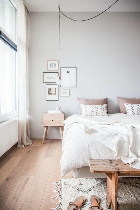 White Wall Bedroom Design Inside Color