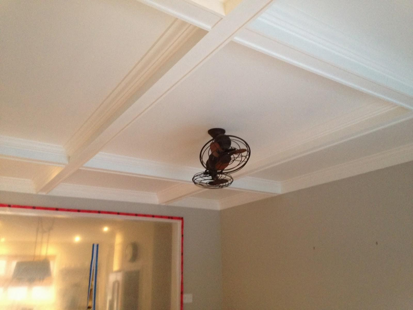 White Wood Diy Coffered Ceiling