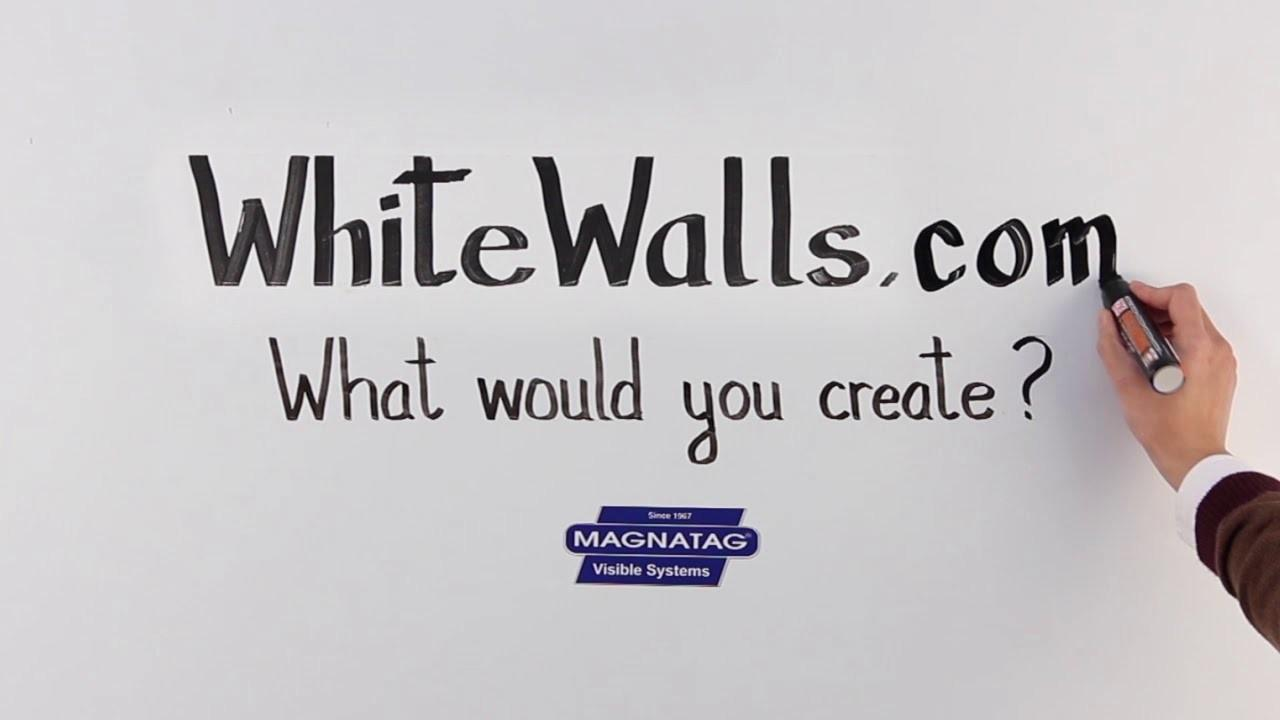 Whitewall Magnetic Dry Erase Steel Whiteboard Wall