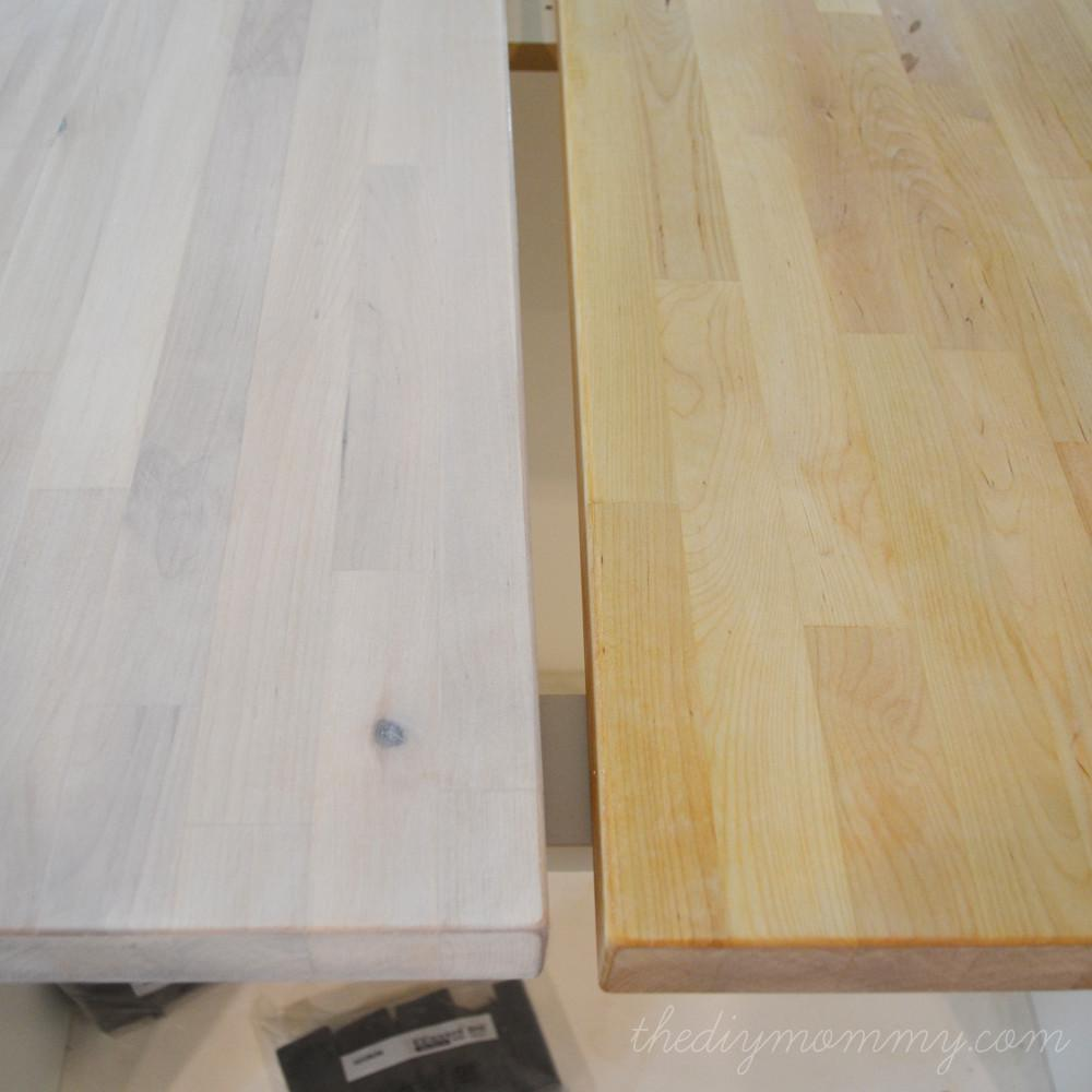Whitewash Seal Butcher Block Counter Top Diy Mommy