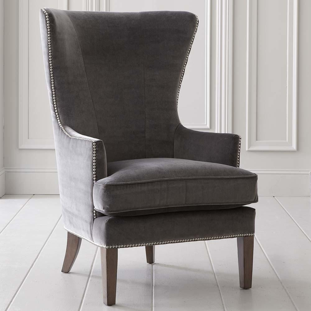 Whitney Accent Chair Fabric Leather