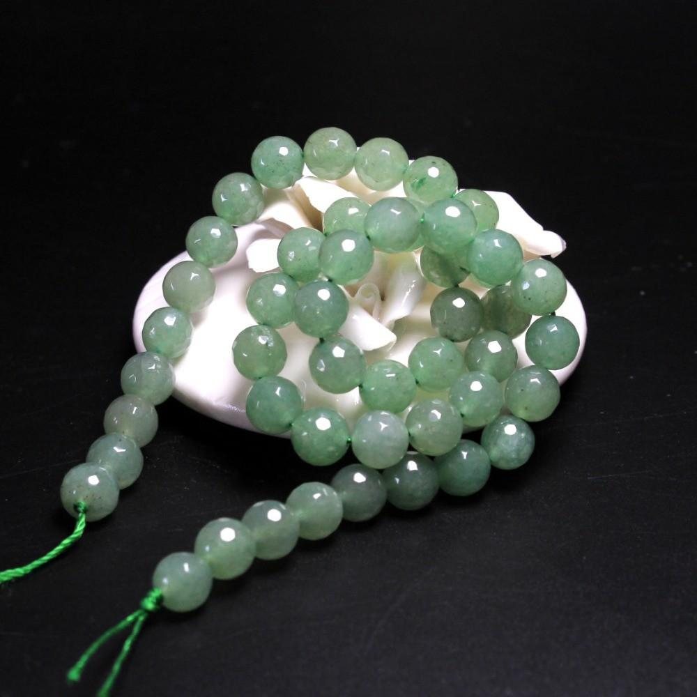 Wholesale Aaa Faceted Green Aventurine Jade Natural Stone