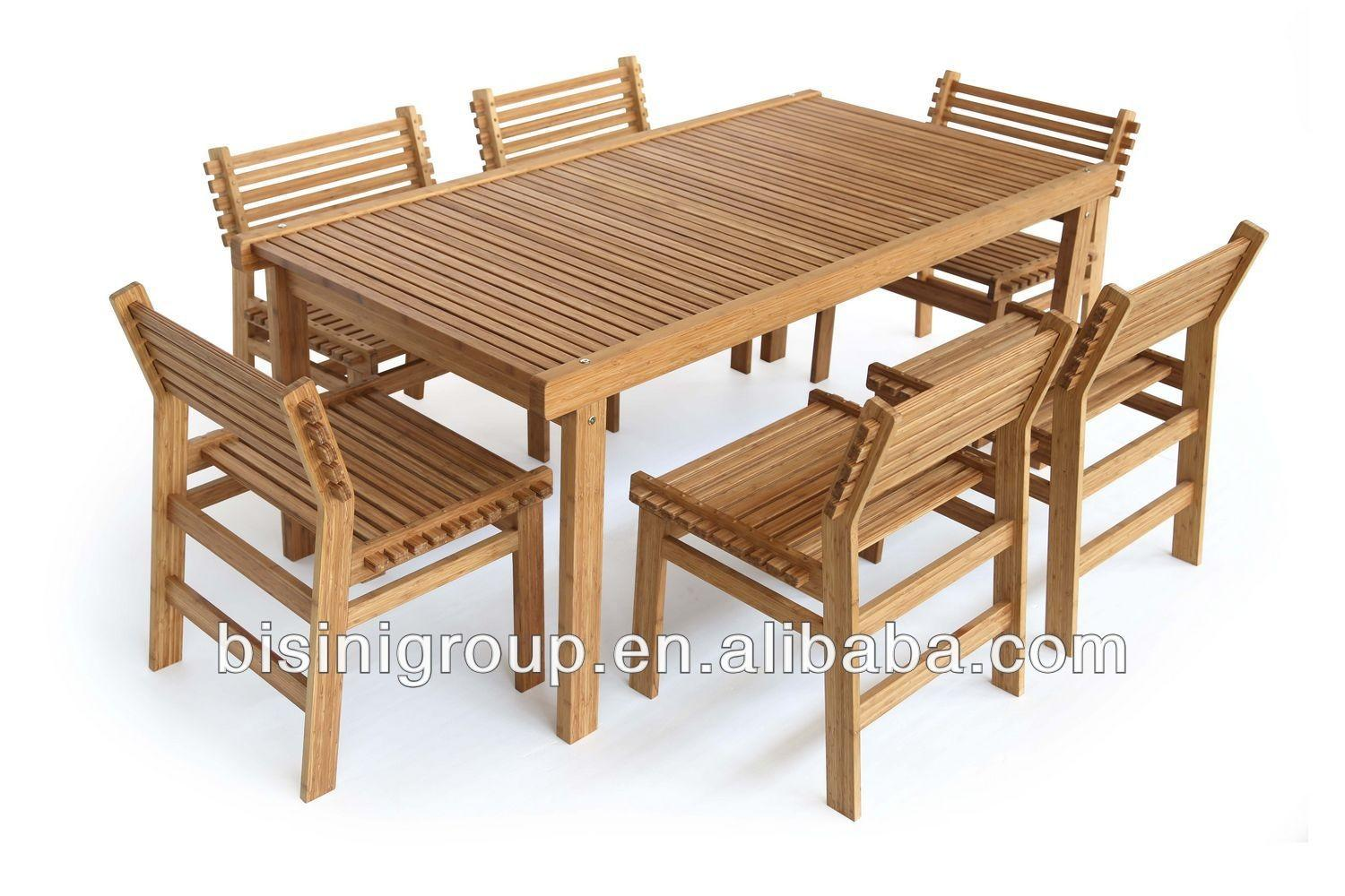 Wholesale Bamboo Furniture Outdoor Dining Square
