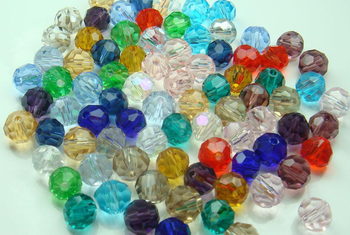 Wholesale Diy 100pcs Faceted Round Jewelry Exquisite