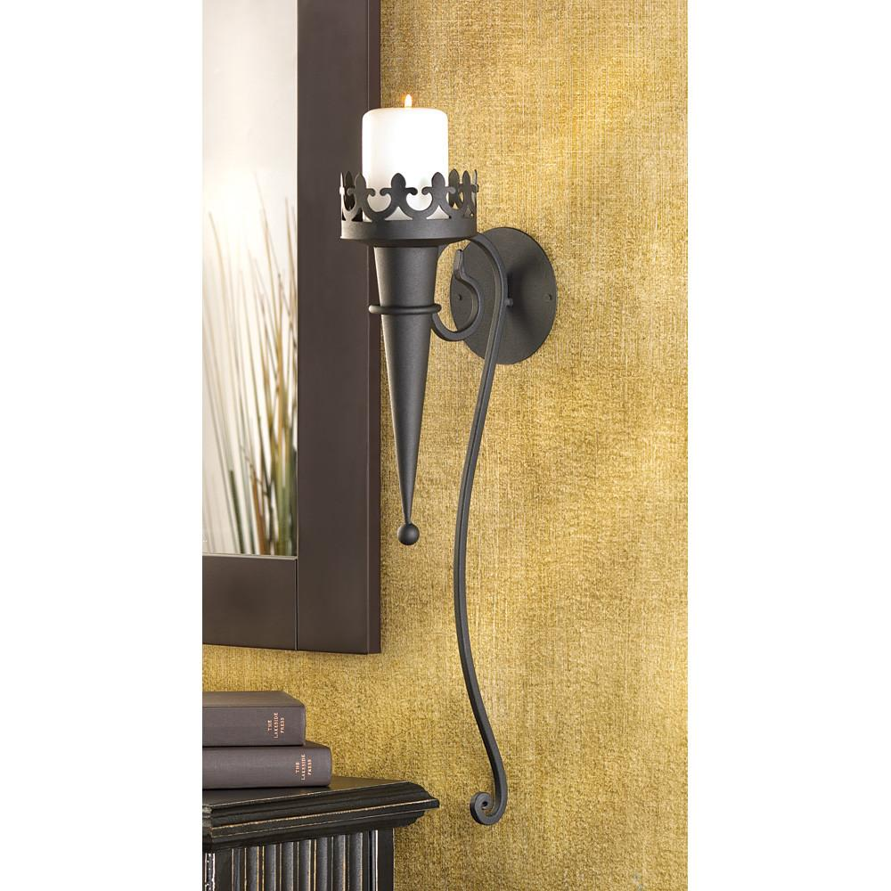 Wholesale Gothic Torch Candle Holder Wall Sconce Medieval