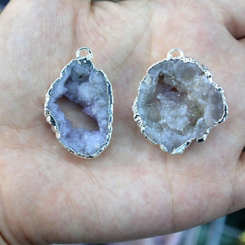 Wholesale Natural Small Unique Drusy Crystal Golden