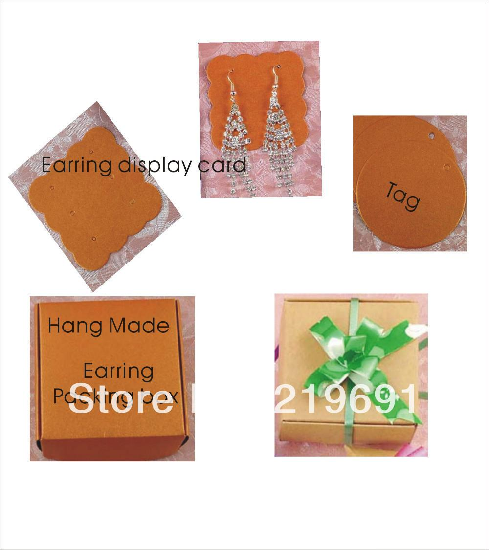 Wholesale New Arrival Diy Earring Packing Card Paper Box