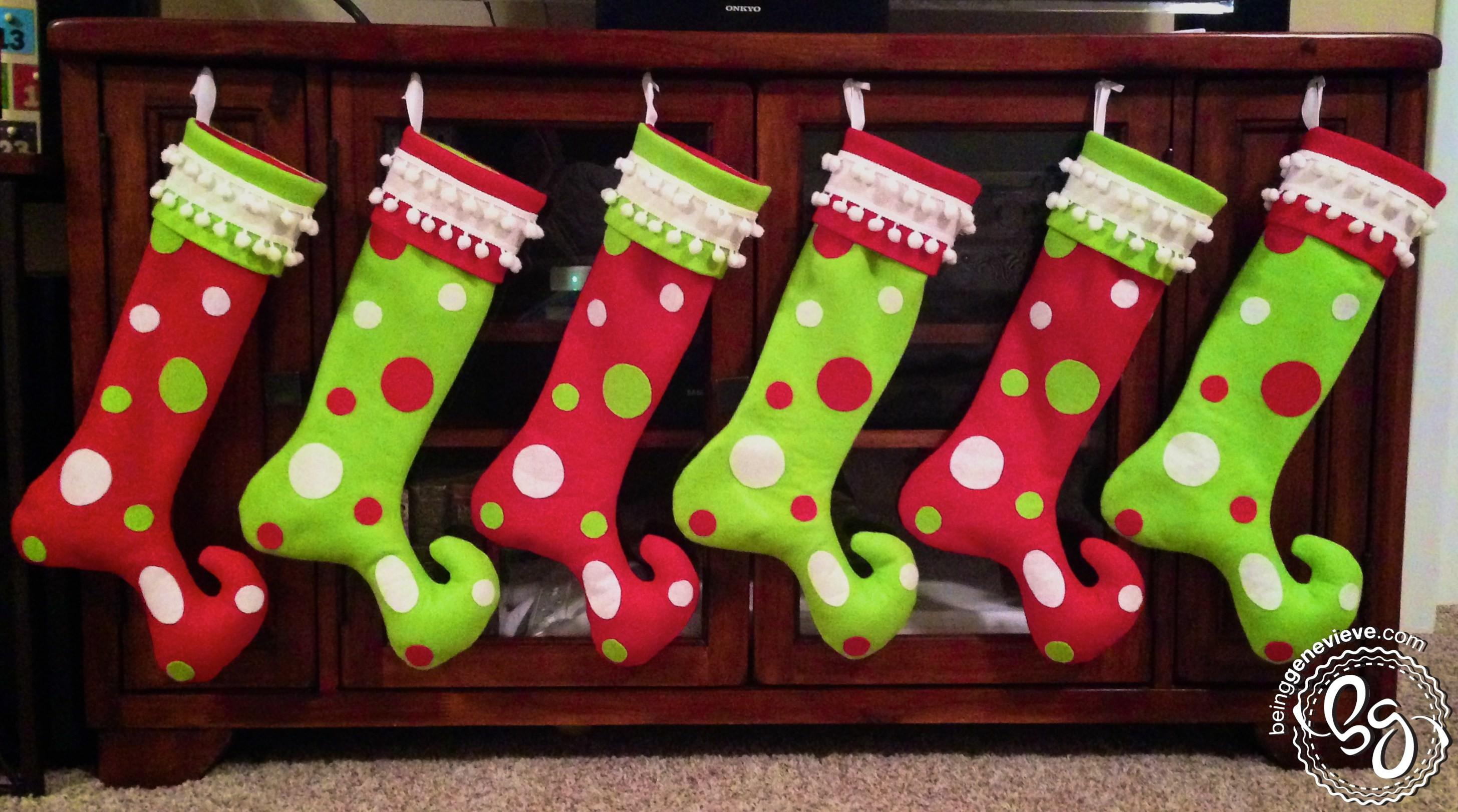 Whoville Christmas Stockings Being Genevieve