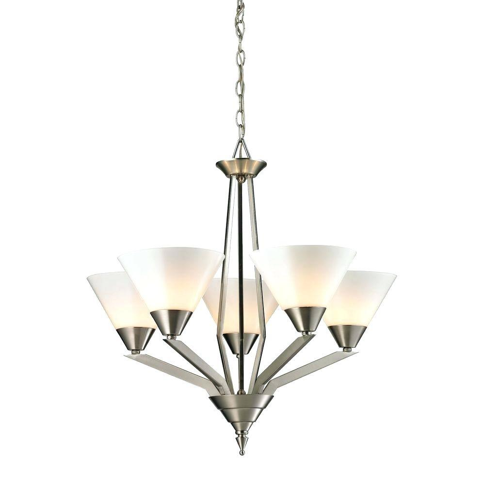 Wicker Lamp Shades Chandelier Tribecca Light Brushed
