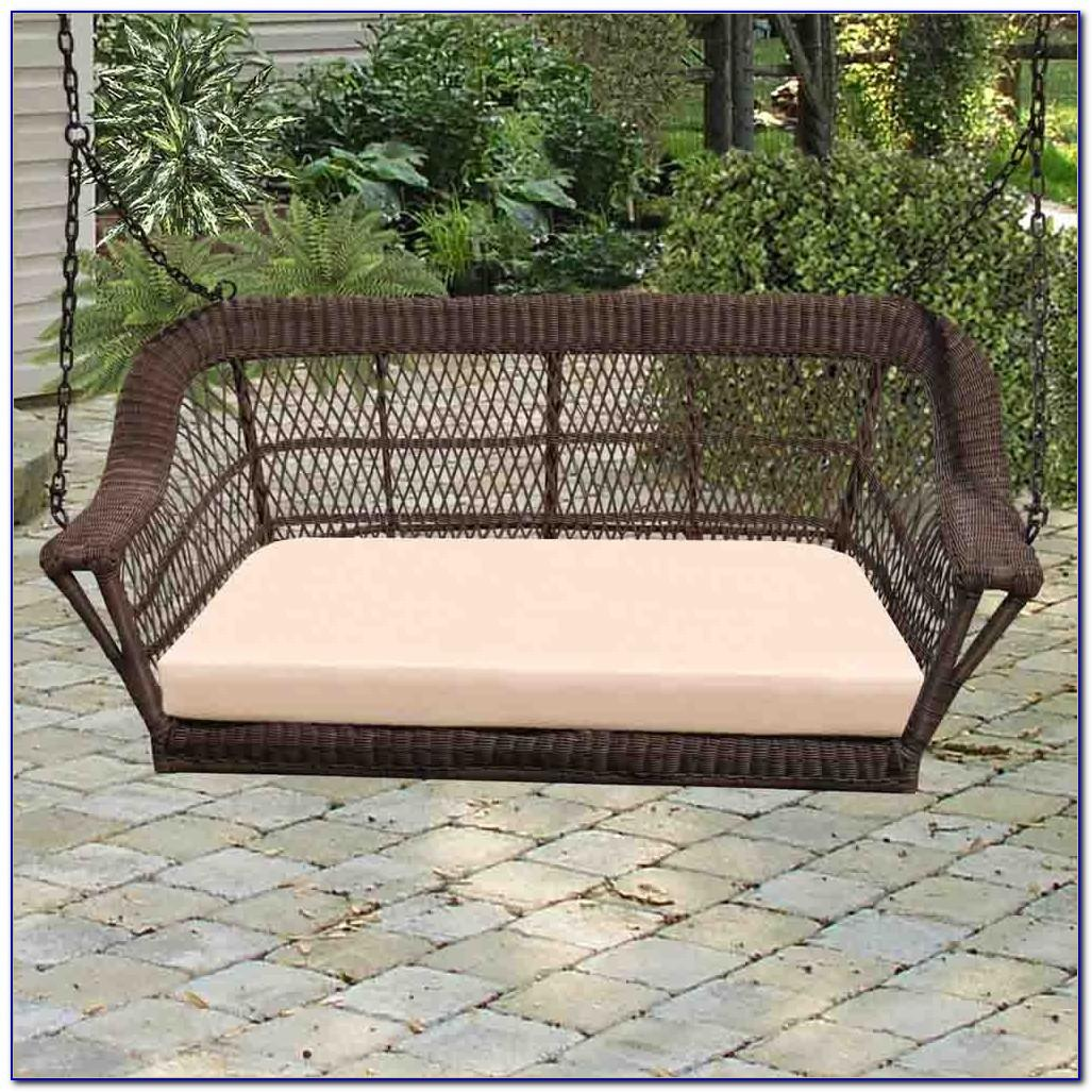 Wicker Patio Swing Canopy Patios Home Decorating