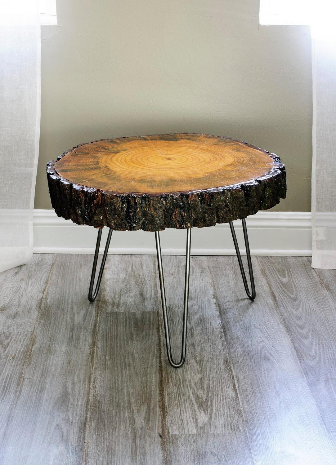 Wide Tree Slice Coffee Table Found Wood