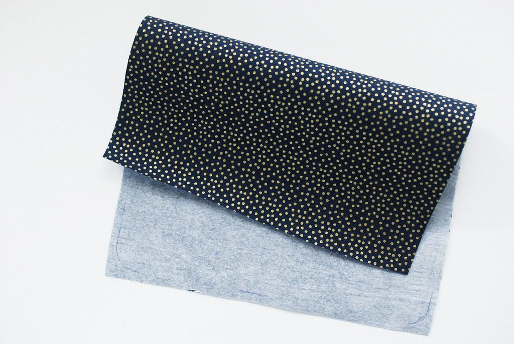 Wild Olive Project Embroidered Felt Stargazing Zip Pouch