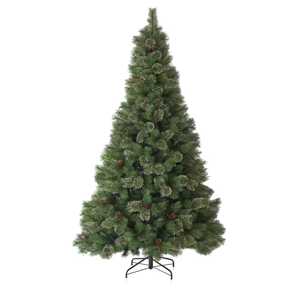 Wilko Best 8ft Christmas Tree Cone Berry