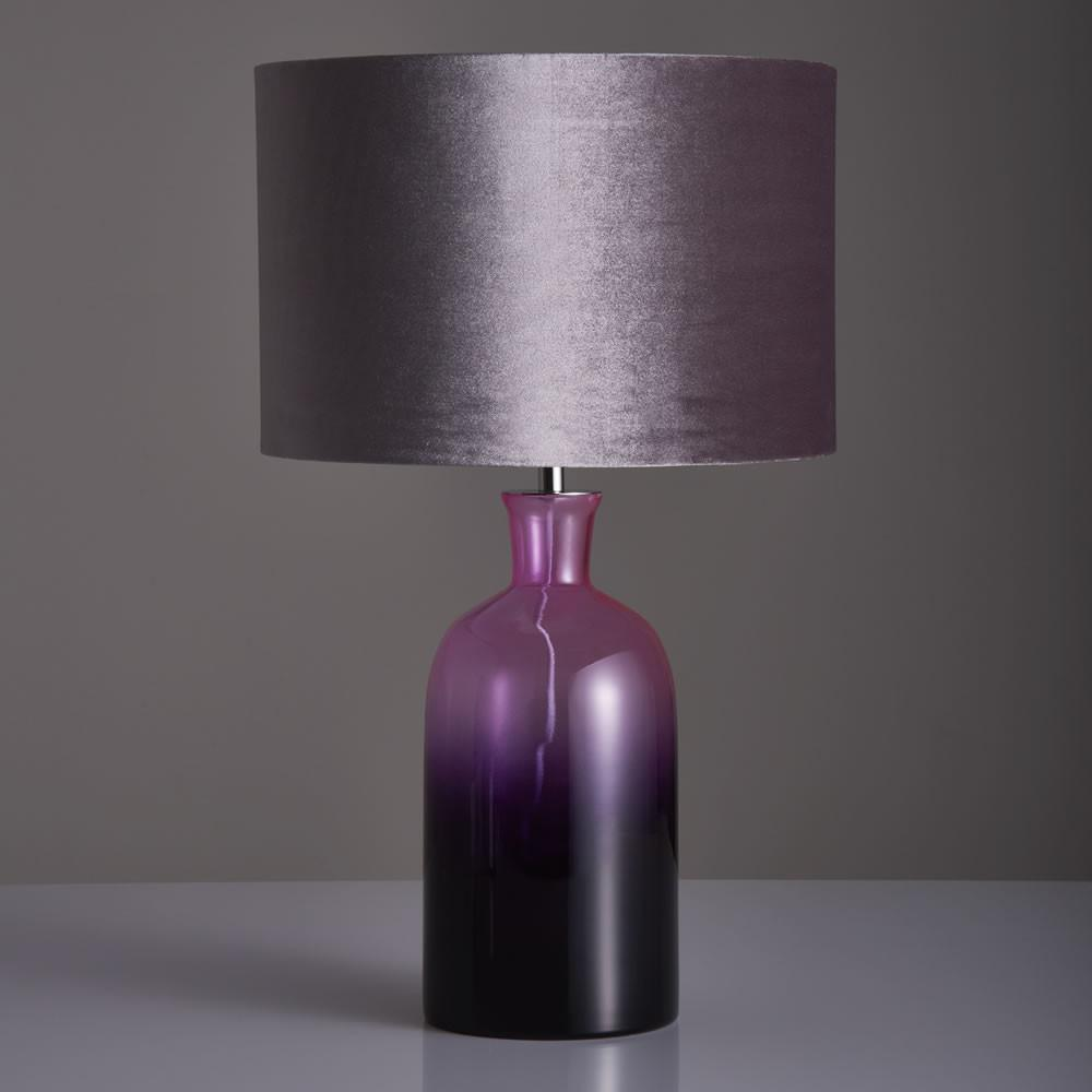 Wilko Ombre Table Lamp Purple