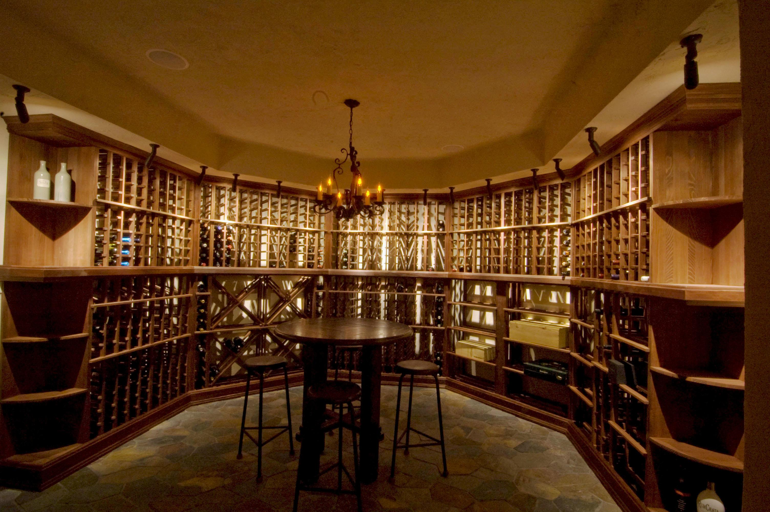 Wine Cellar Dining Room Agreeable Interior Design Ideas