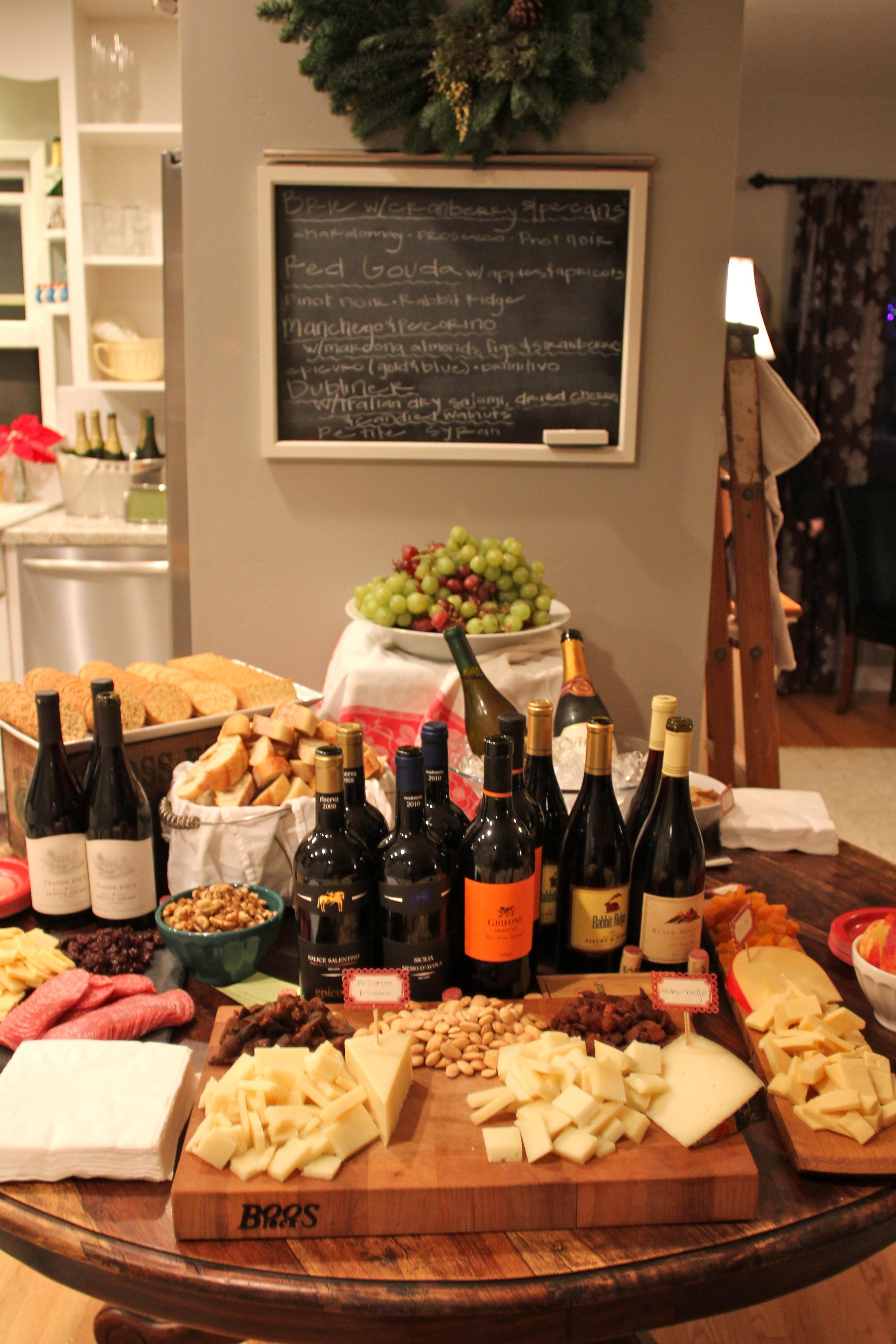 Wine Cheese Christmas Party
