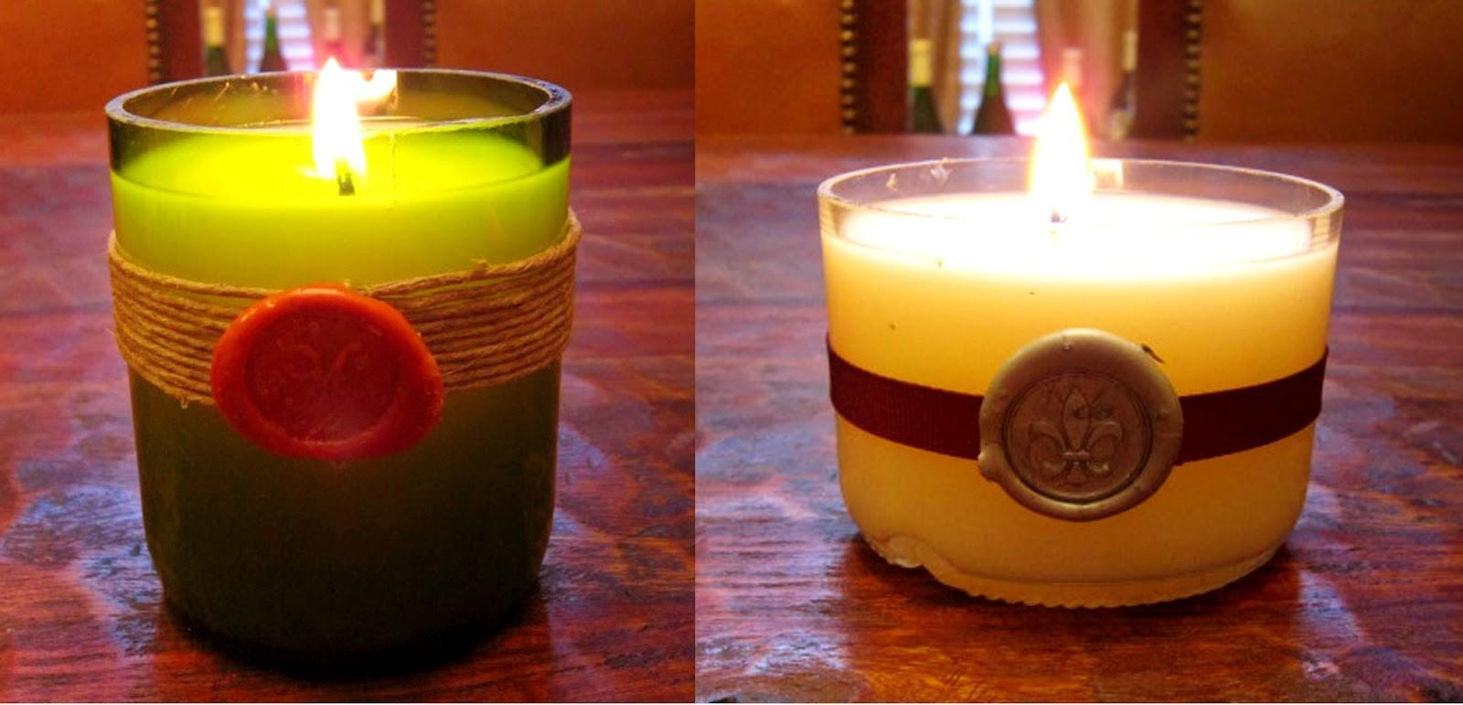 Wine Cork Diy Recycled Bottle Candles