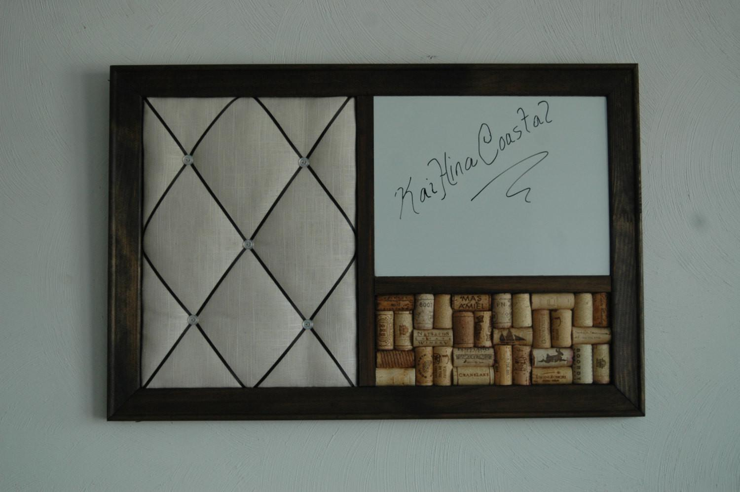 Wine Corkboard Magnetic Whiteboard French Memo Board Wall