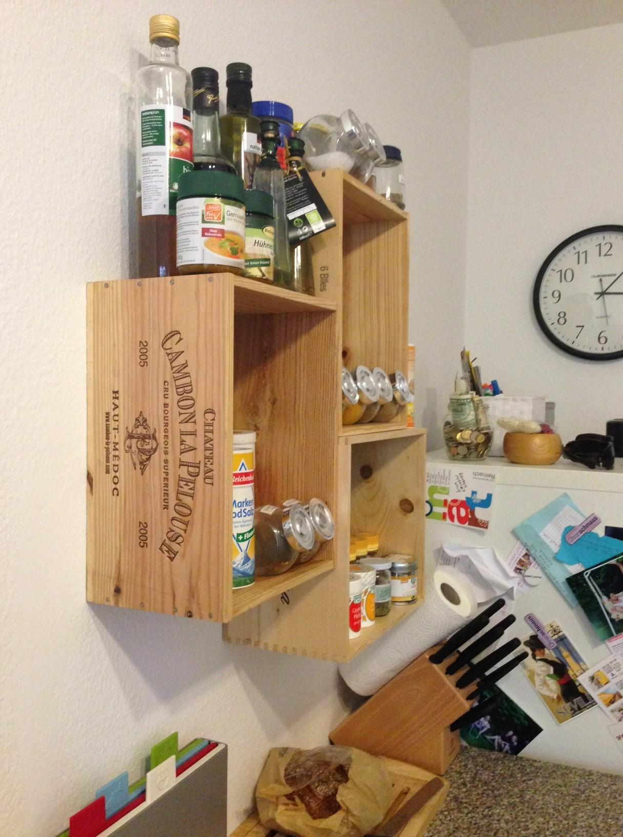 Wine Crate Spice Shelves Kittencrafts