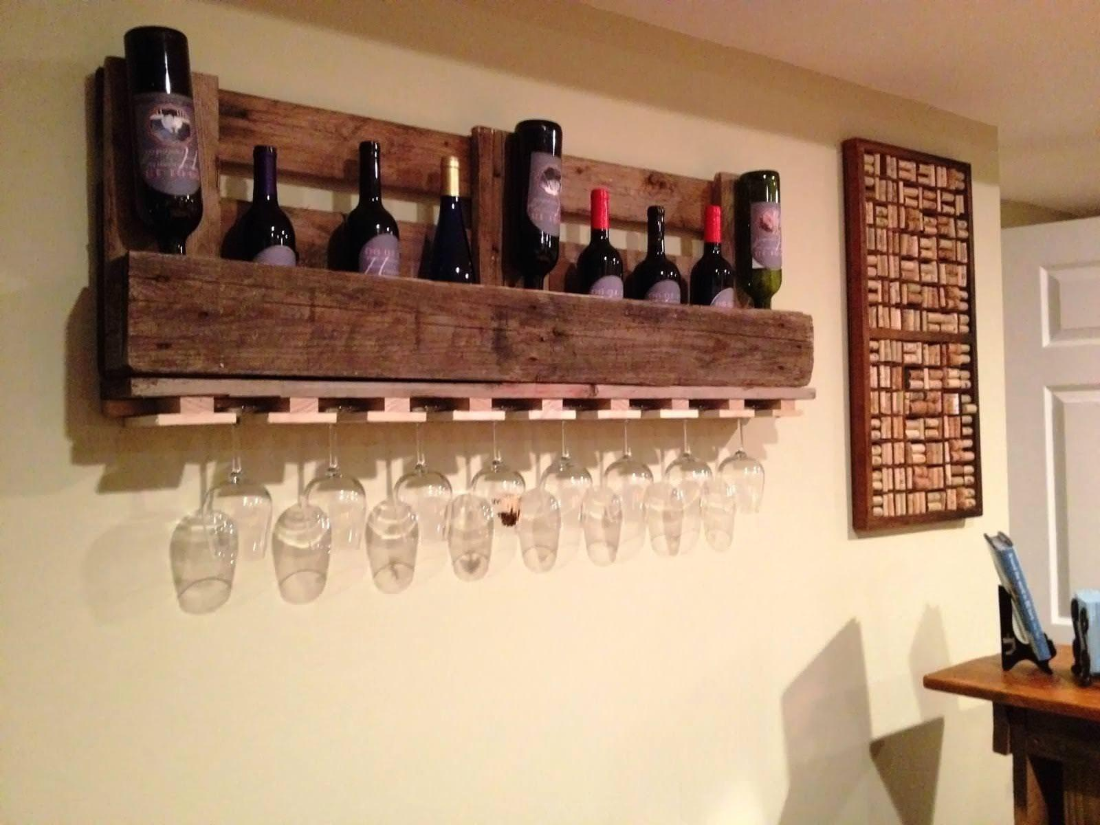 Wine Glass Rack Wall Mount Shelf