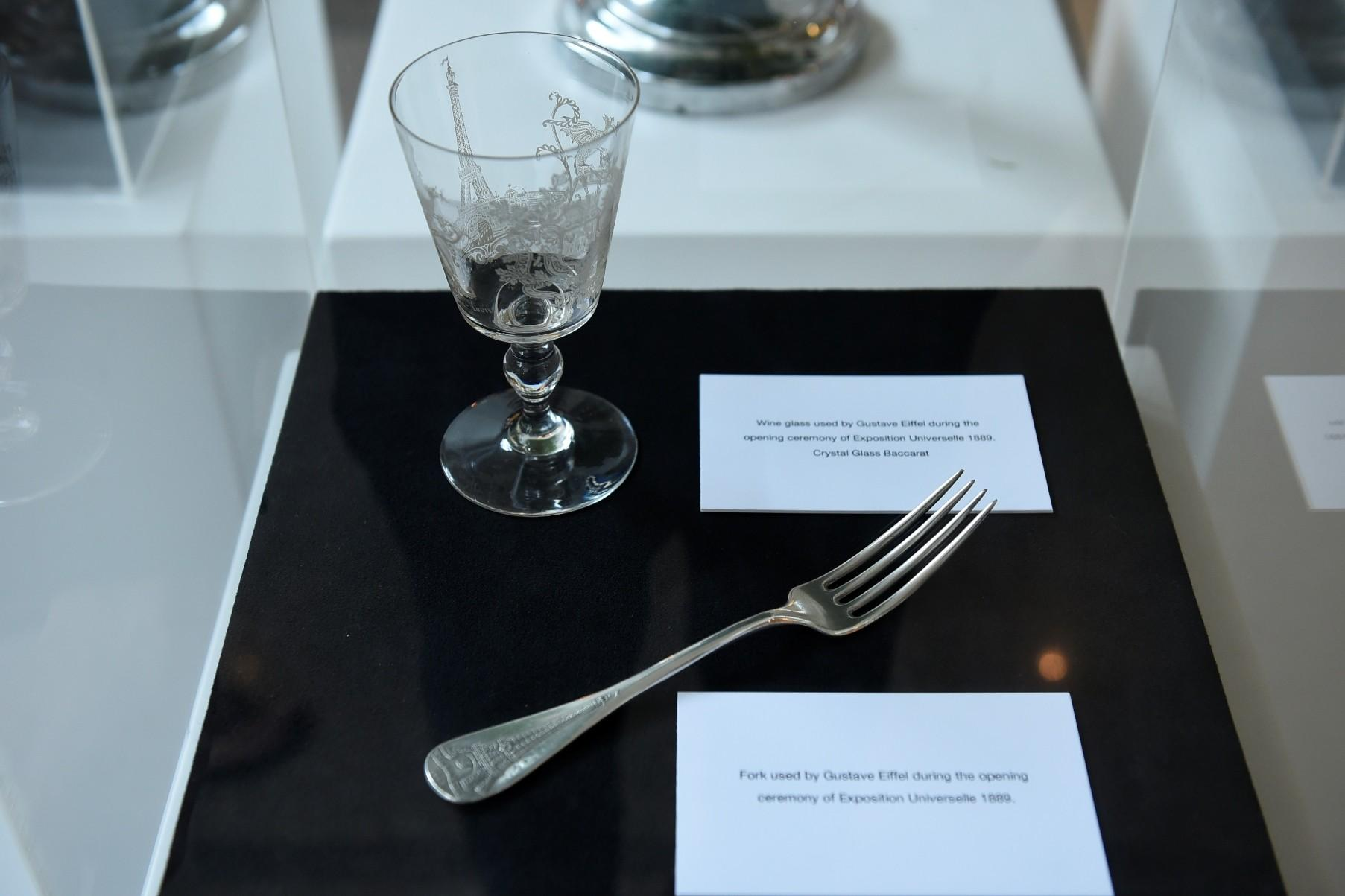 Wine Glass Used Gustave Eiffel During Opening