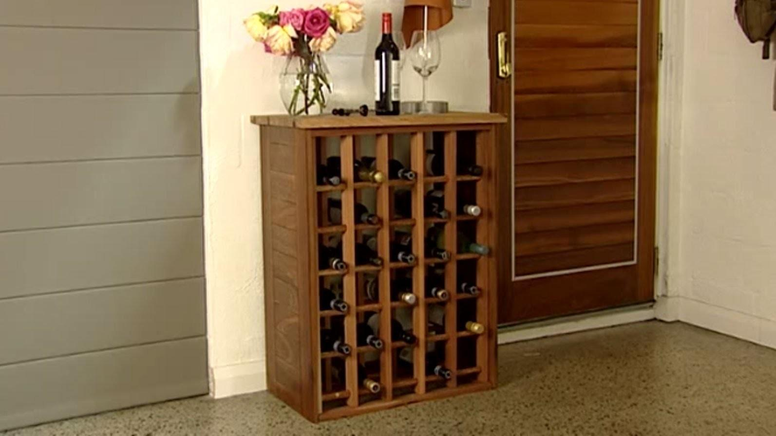 Wine Rack Homemade Cabinet Childcarepartnerships