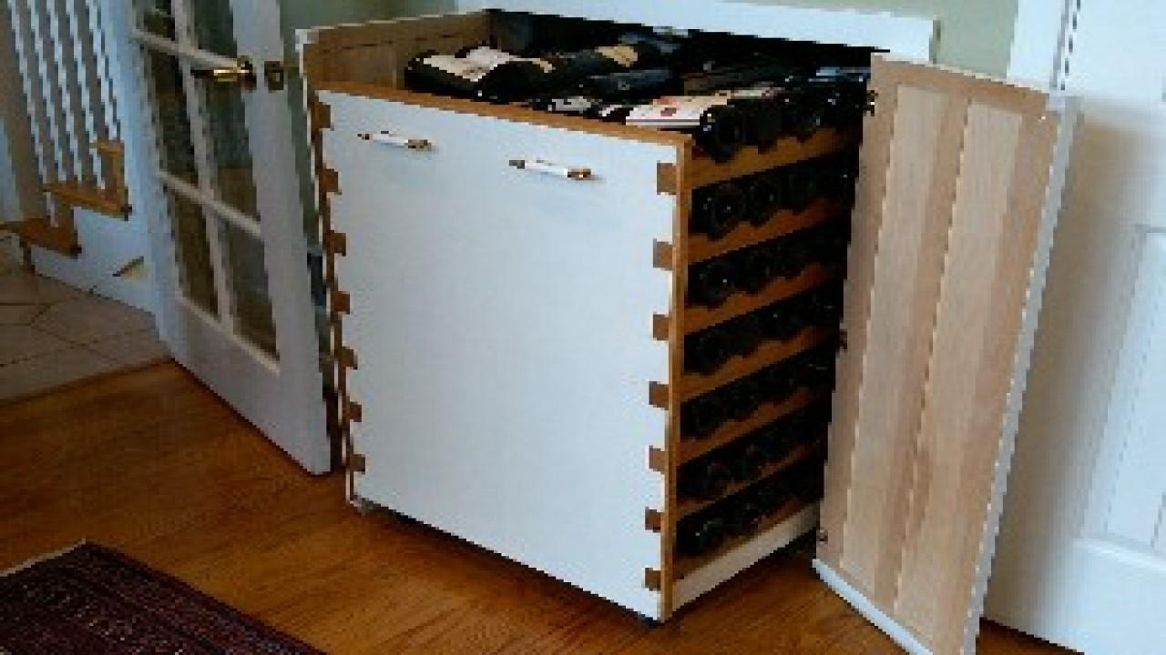 Wine Racks Under Stairs Pull Out Storage