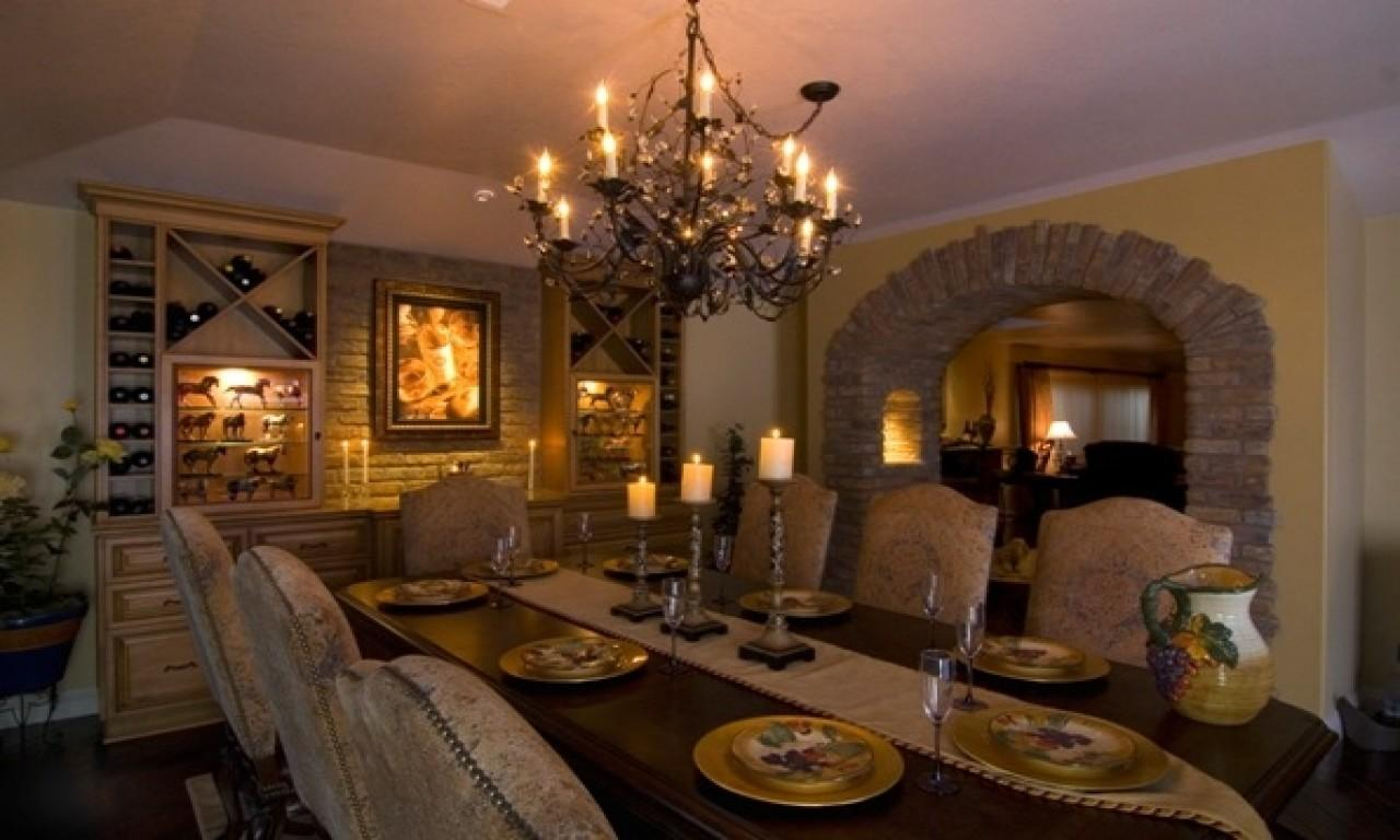 Wine Themed Kitchen Tropical Dining Room