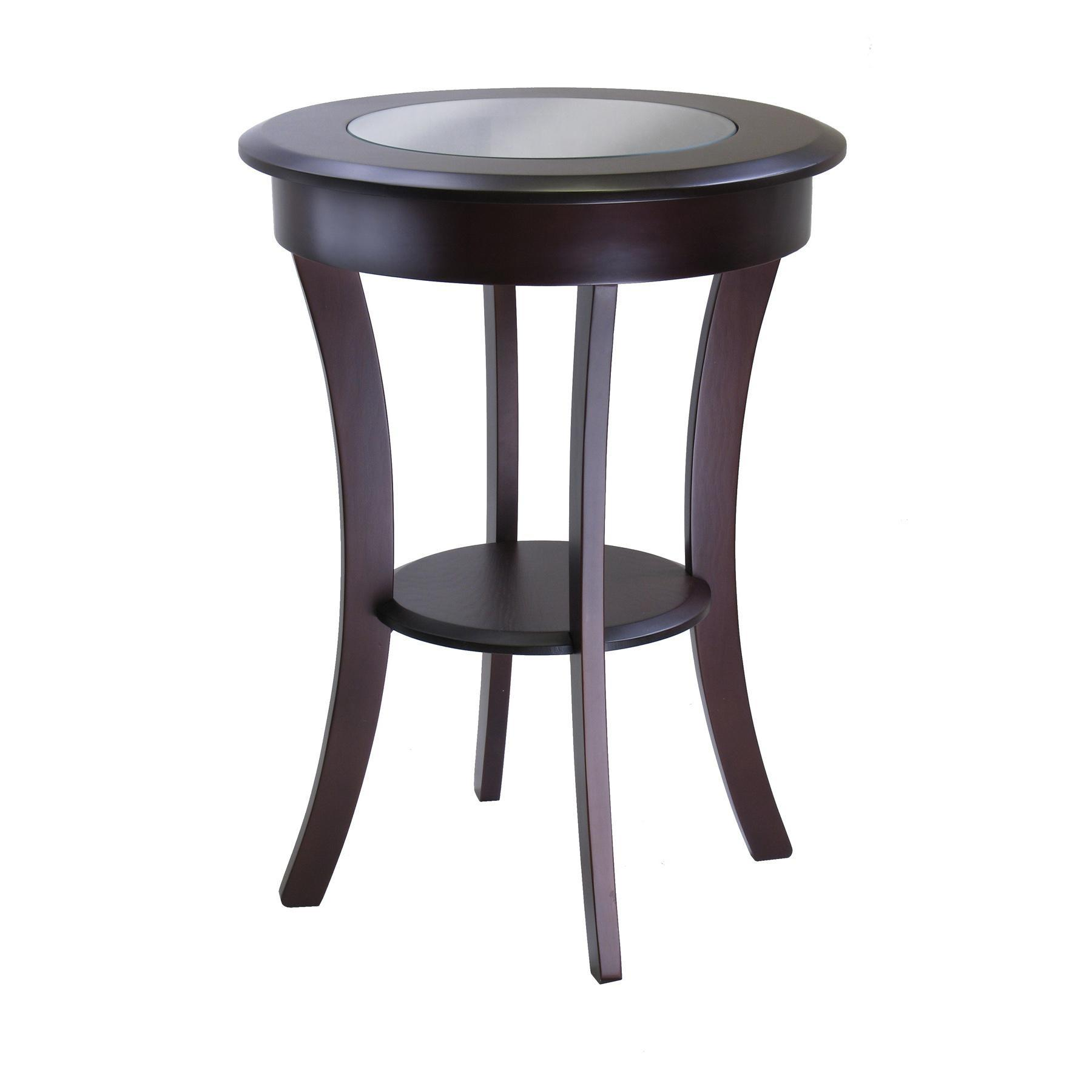 Winsome Wood Cassie Accent Table Glass