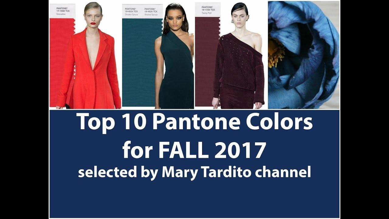 Winter 2018 Color Trends Fall 2017 Main Colors Top