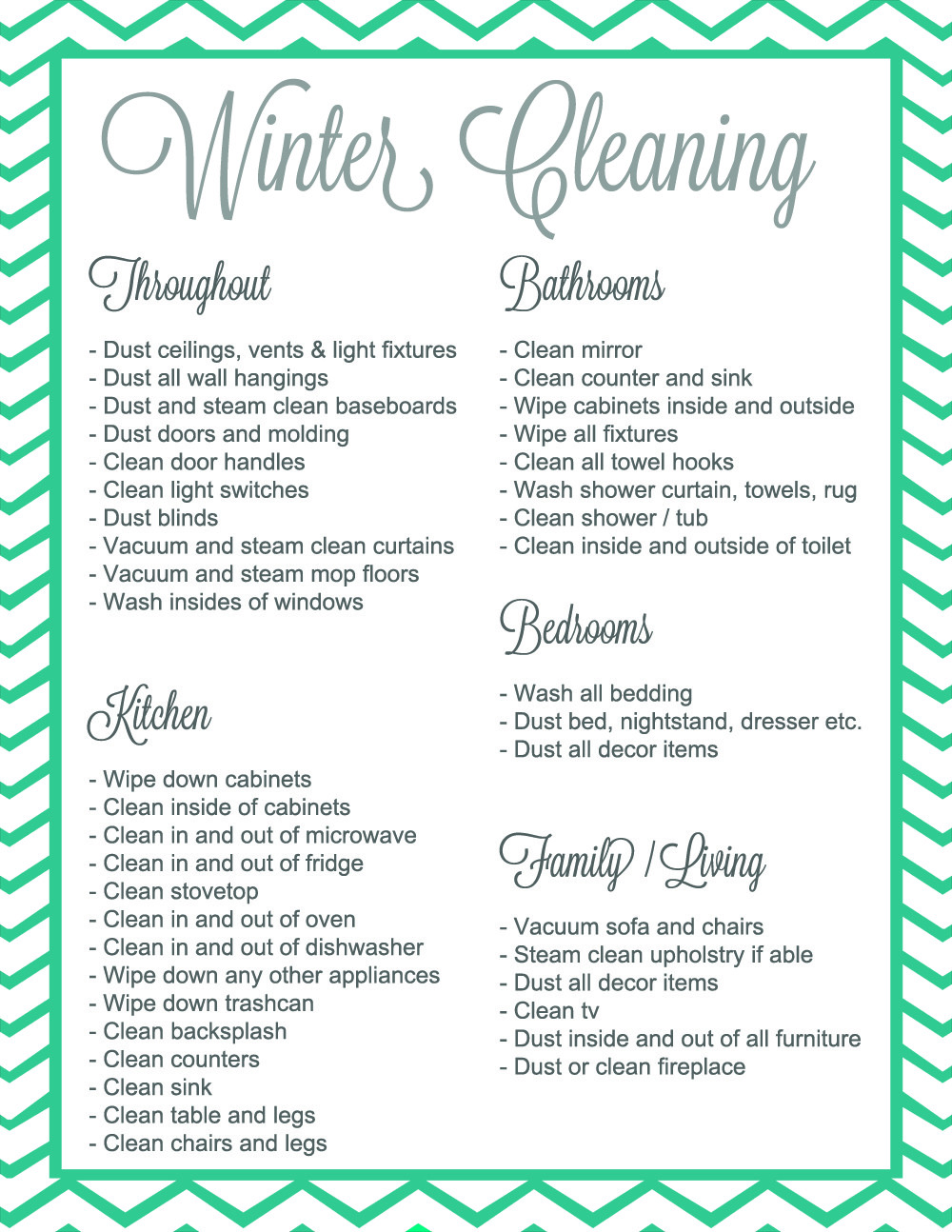 Winter Cleaning Thing Giveaway