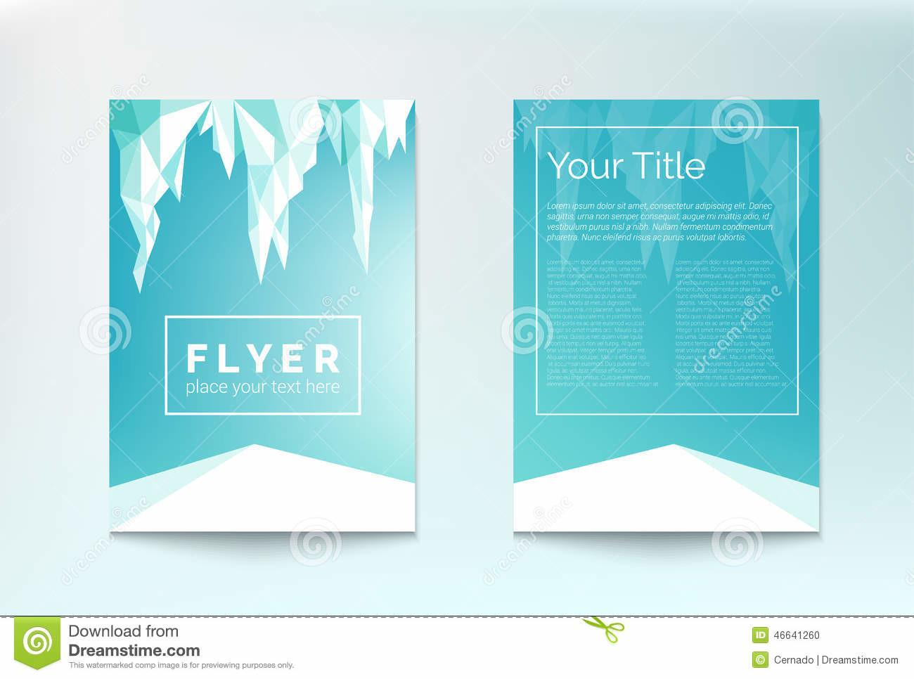 Winter Flyer Stock Vector