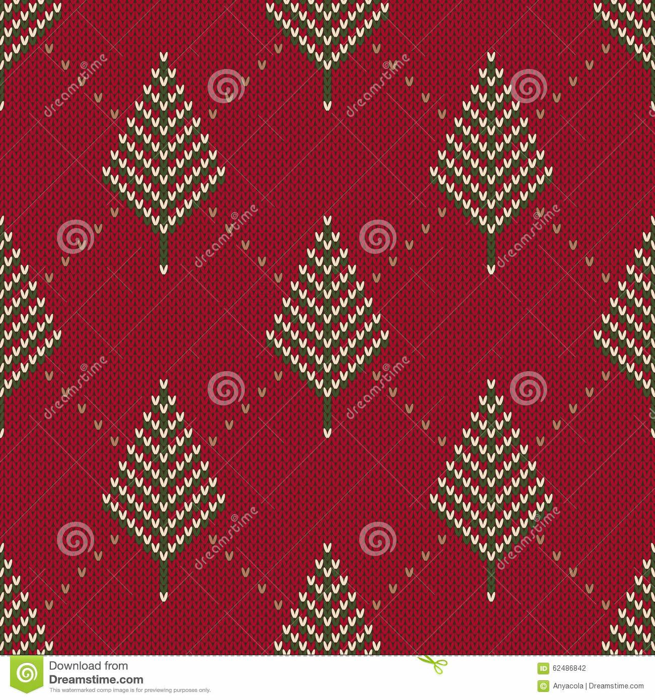Winter Holiday Sweater Design Seamless Knitted Pattern