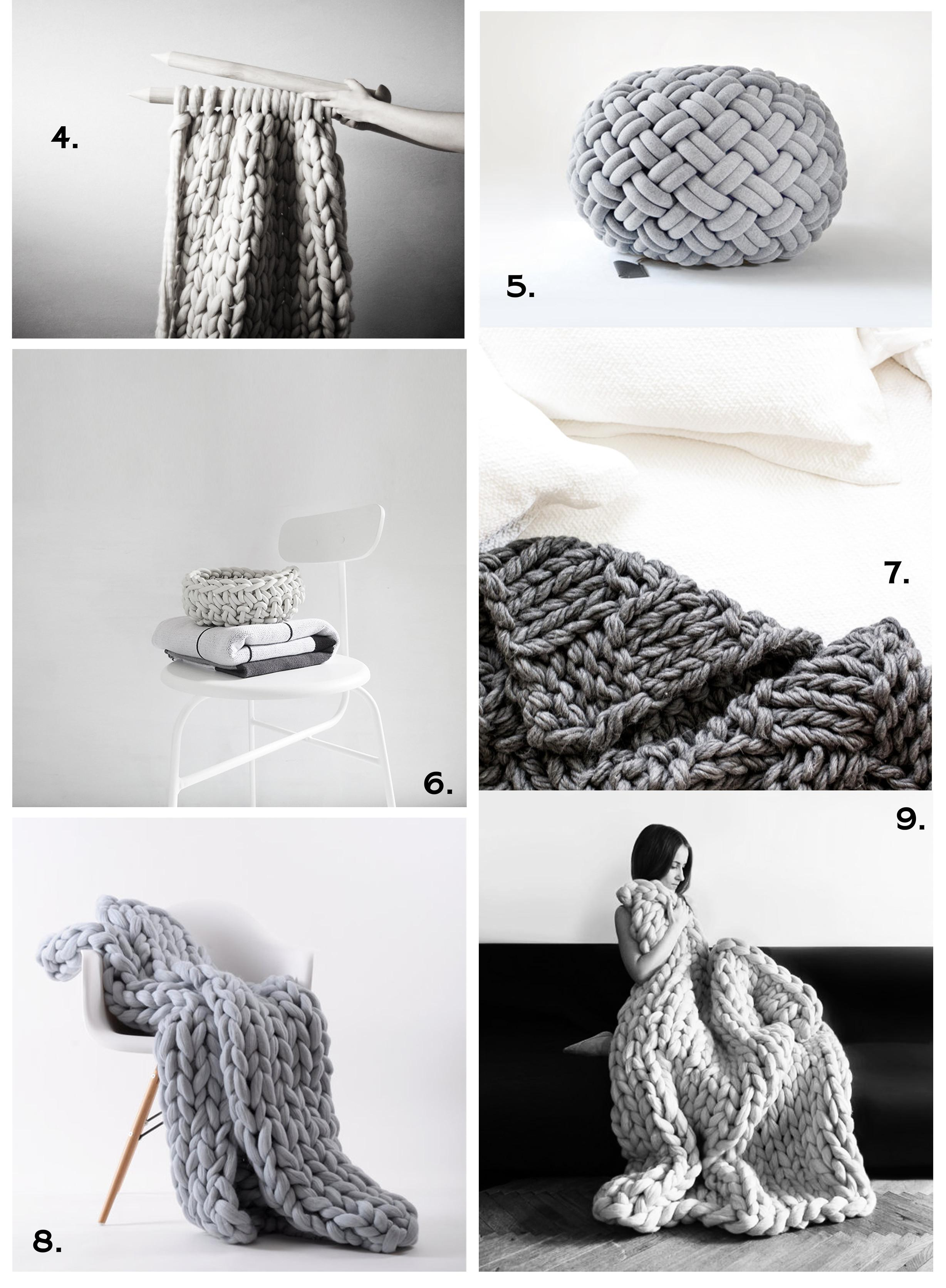 Winter Interior Trend Chunky Knit Home Accesoires