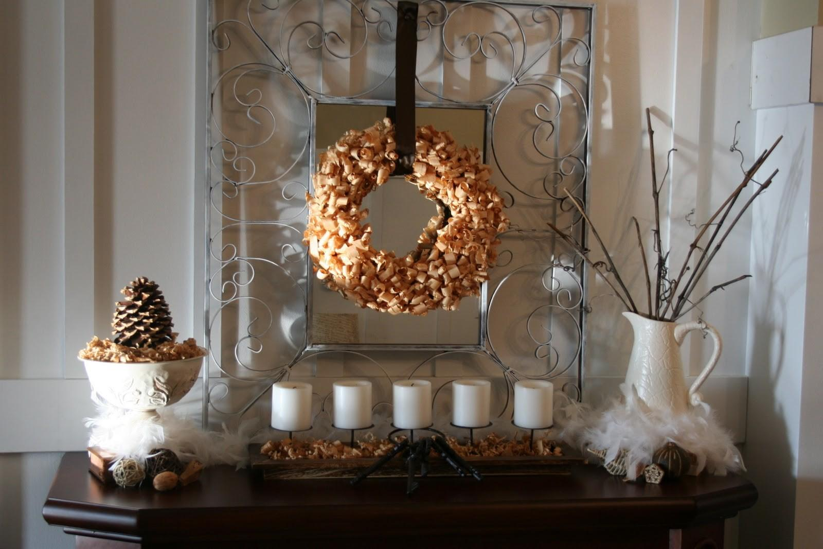 Winter Mantel Linky Party Home Stories