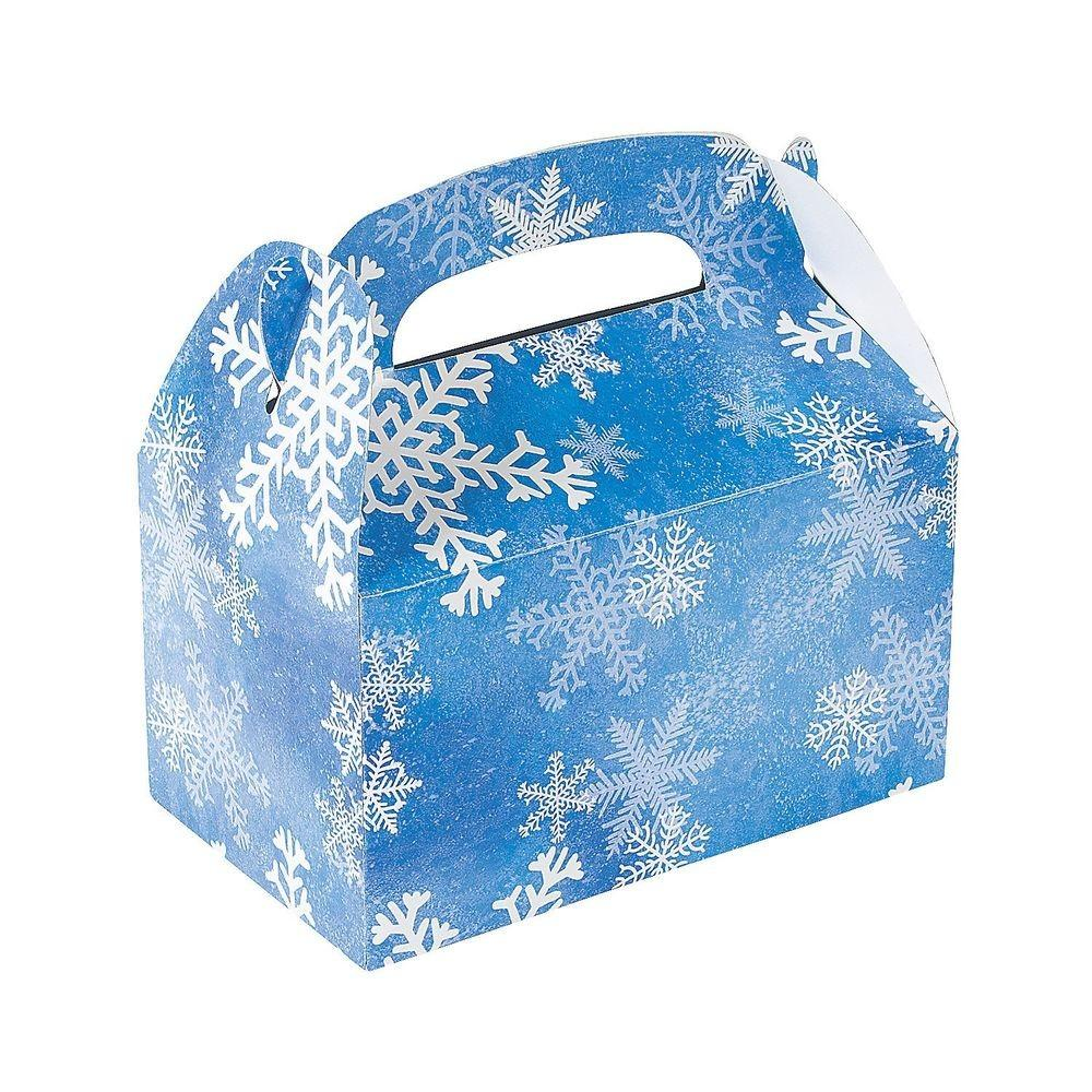Winter Snowflake Treat Gift Boxes Christmas Party