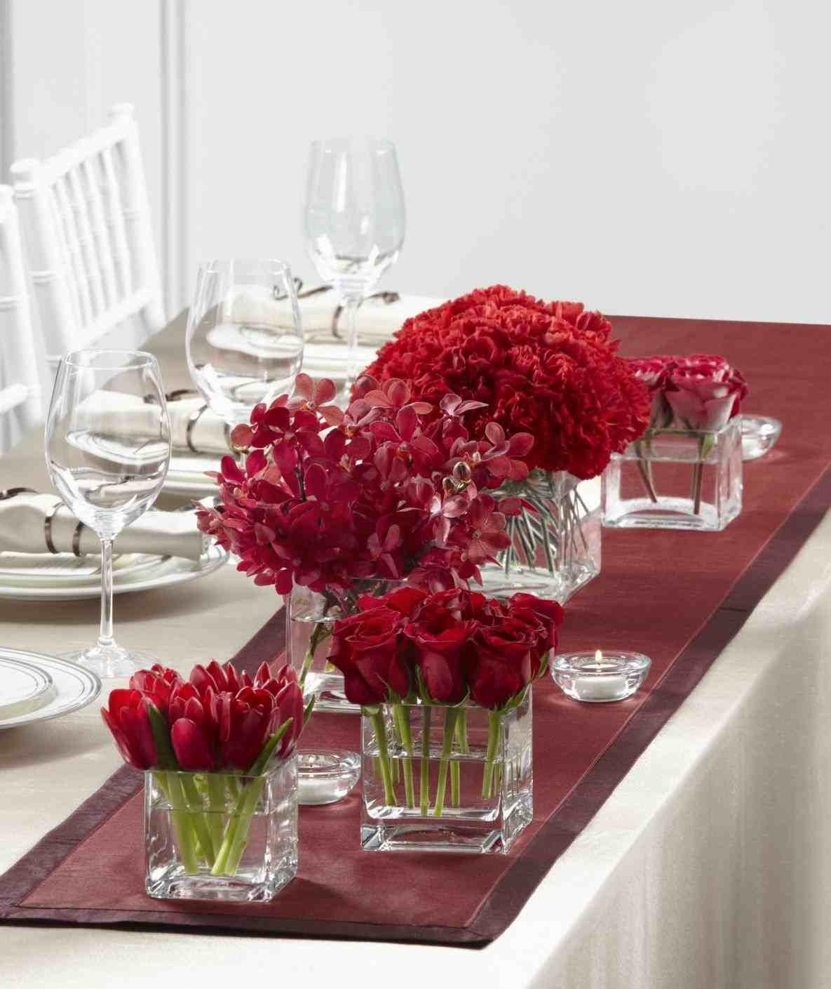 Winter Wedding Centerpieces Red Fabulous