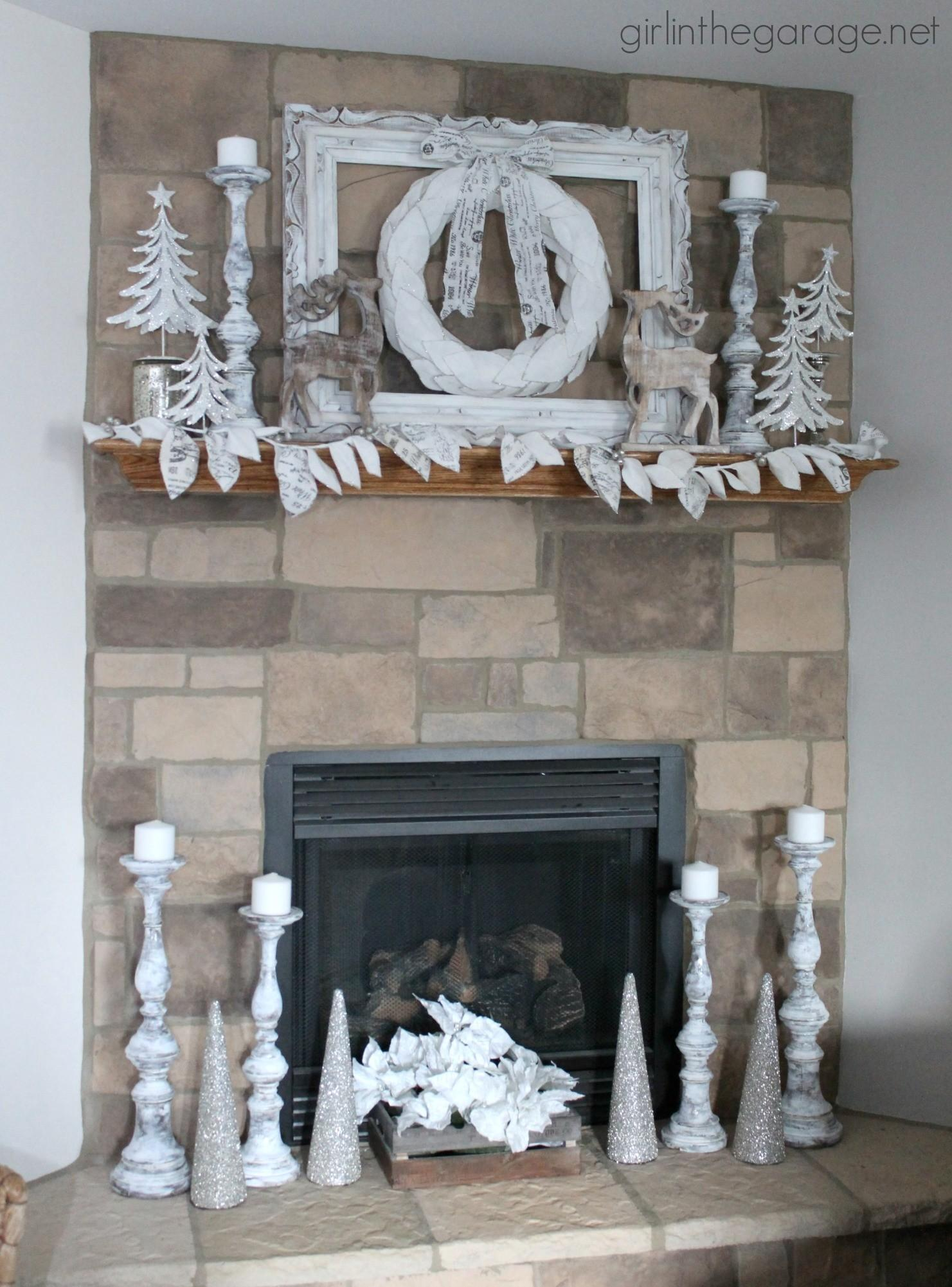 Winter Wonderland Christmas Mantel Girl Garage