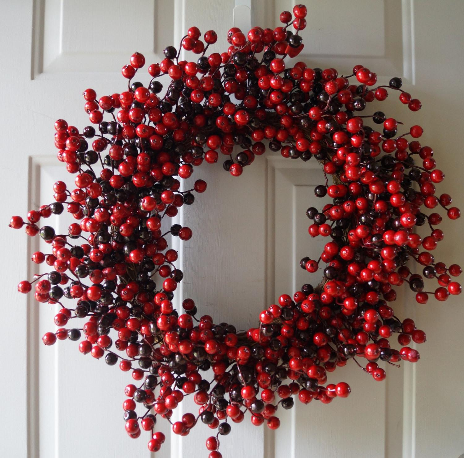 Winter Wreath Holiday Fall Red Berry
