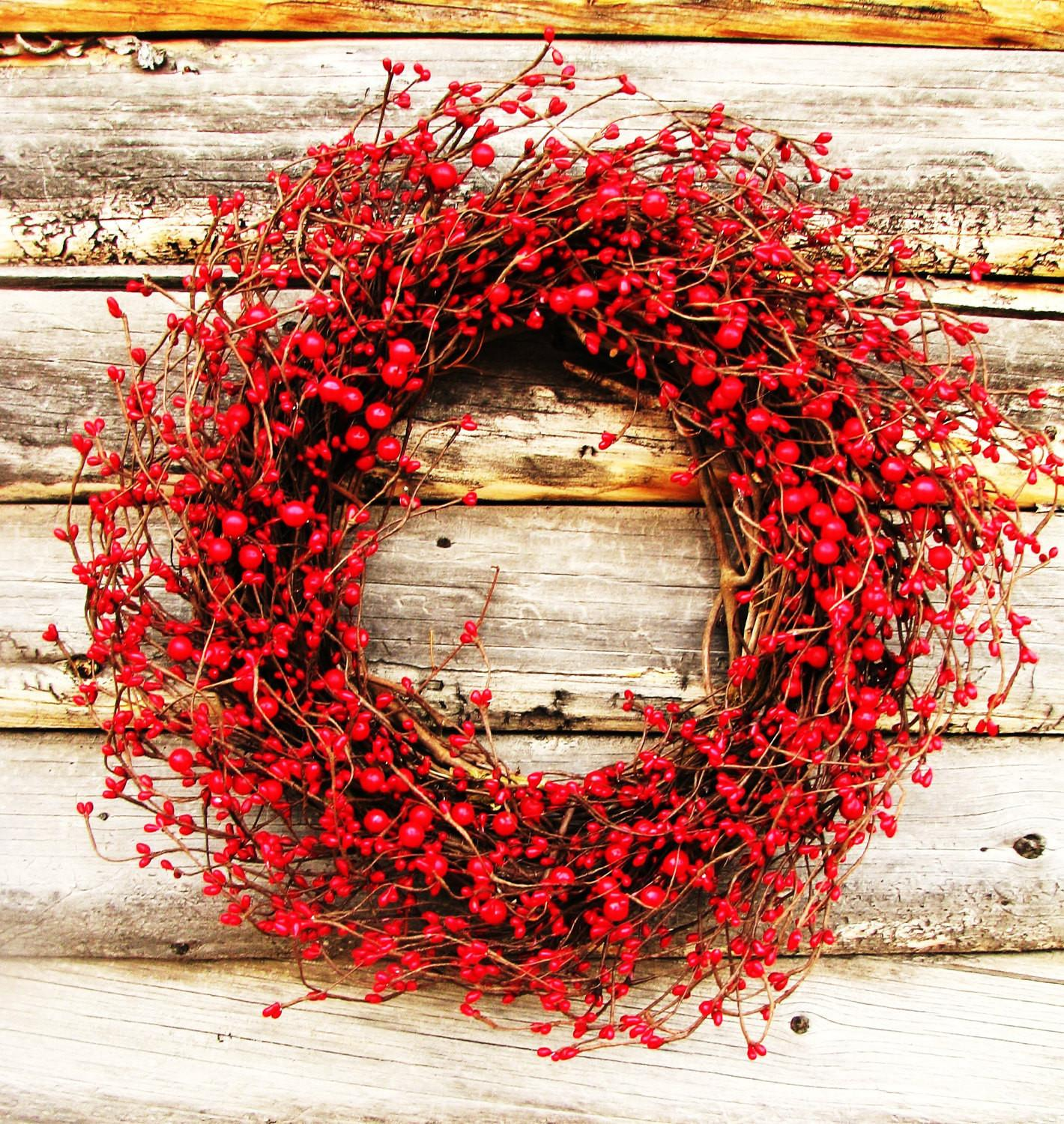 Winter Wreath Valentines Red Berry Holiday