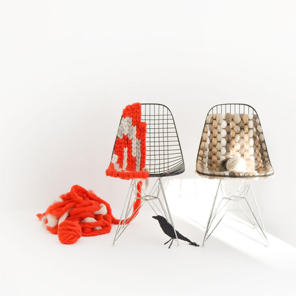 Wire Chairs Knitted