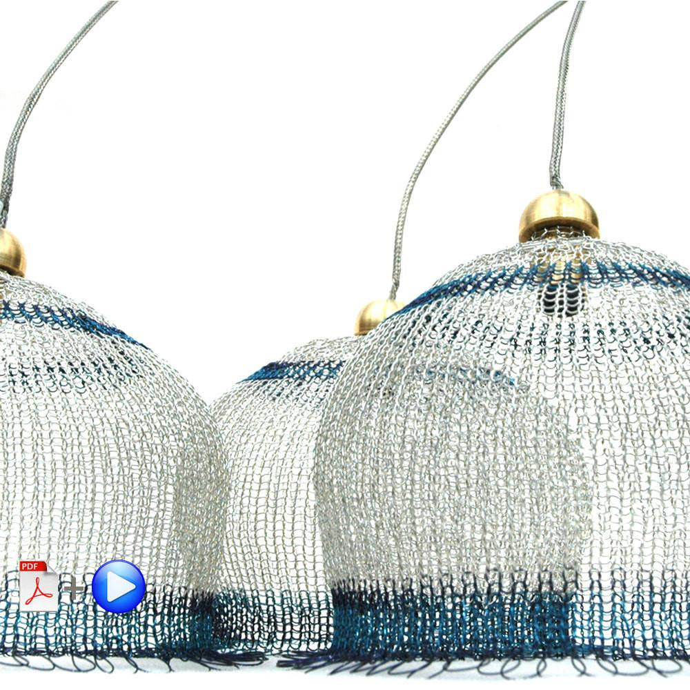 Wire Lampshade Pattern Crocheted Light Pendant Diy Home