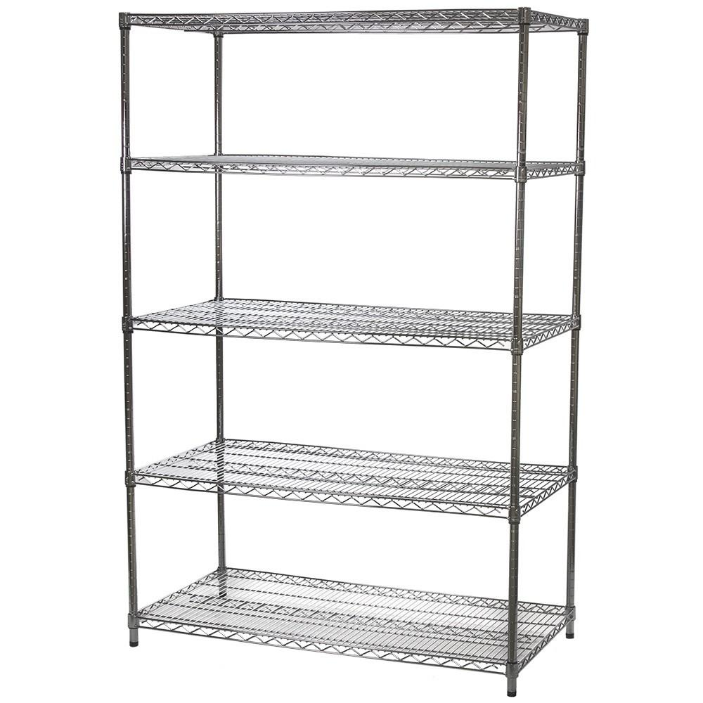Wire Shelving Unit Five Shelves