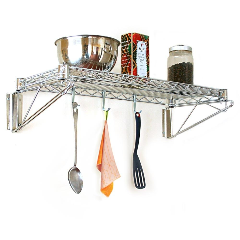 Wire Wall Shelves Kitchen Best Decor Things