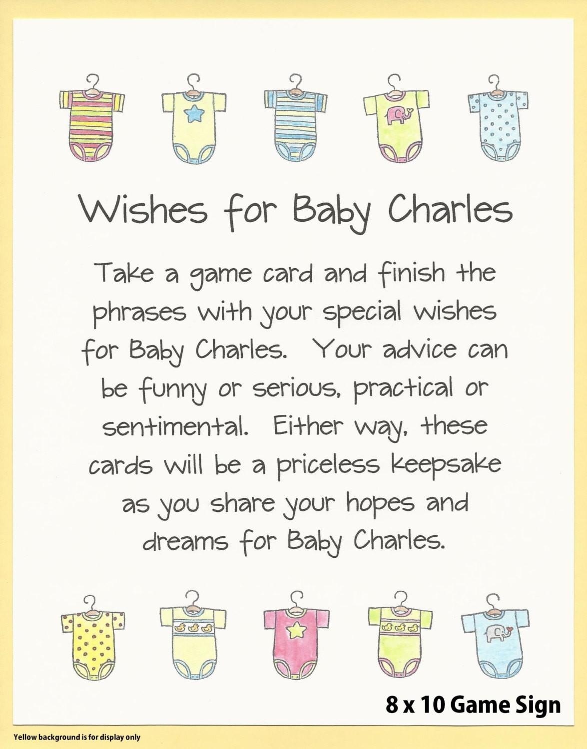 Wishes Baby Shower Game Easy Games Couples