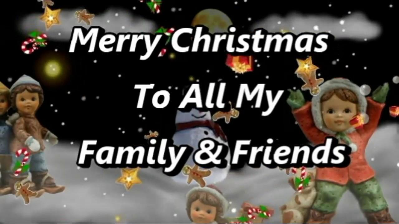Wishing Family Friends Merry Christmas